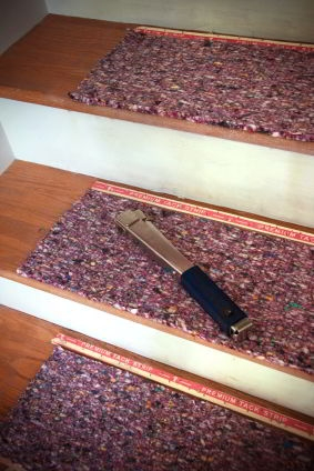 The Three Types Of Carpet Installation   Best Carpet Padding For Stairs   Landing   Moisture Barrier   Install   Flooring   Wooden Stairs