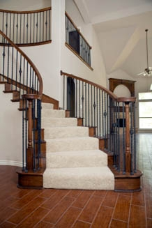 Gorgeous Stair Runners And Carpet   Stair Carpet Fitting Cost   Stair Runner   Wood   Basement Stairs   Laminate Flooring   Flooring