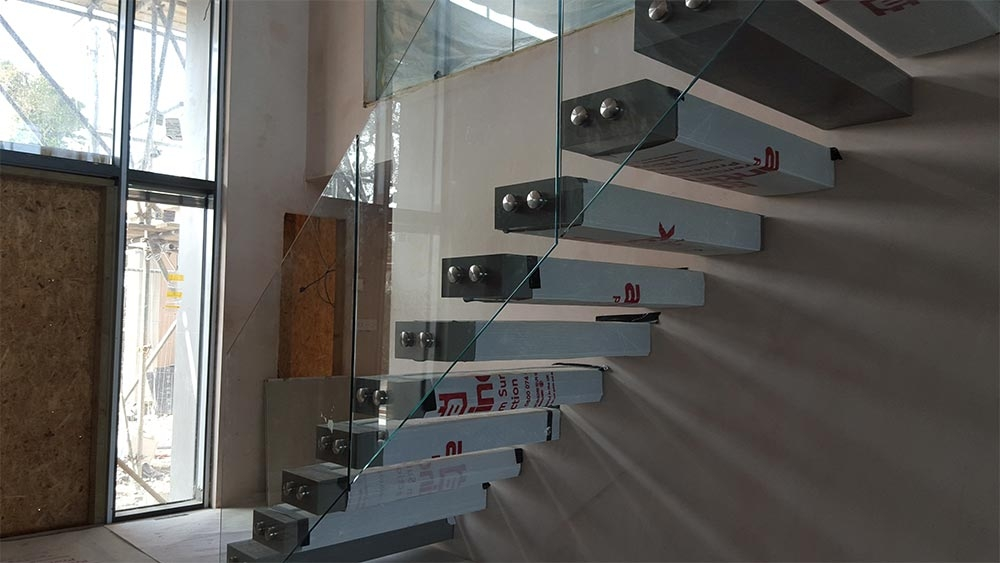 Bespoke Steel Staircases Pembrokeshire Engineering   Design Your Own Staircase   Metal   Stairway   Painted   Handrail   Grand Entrance