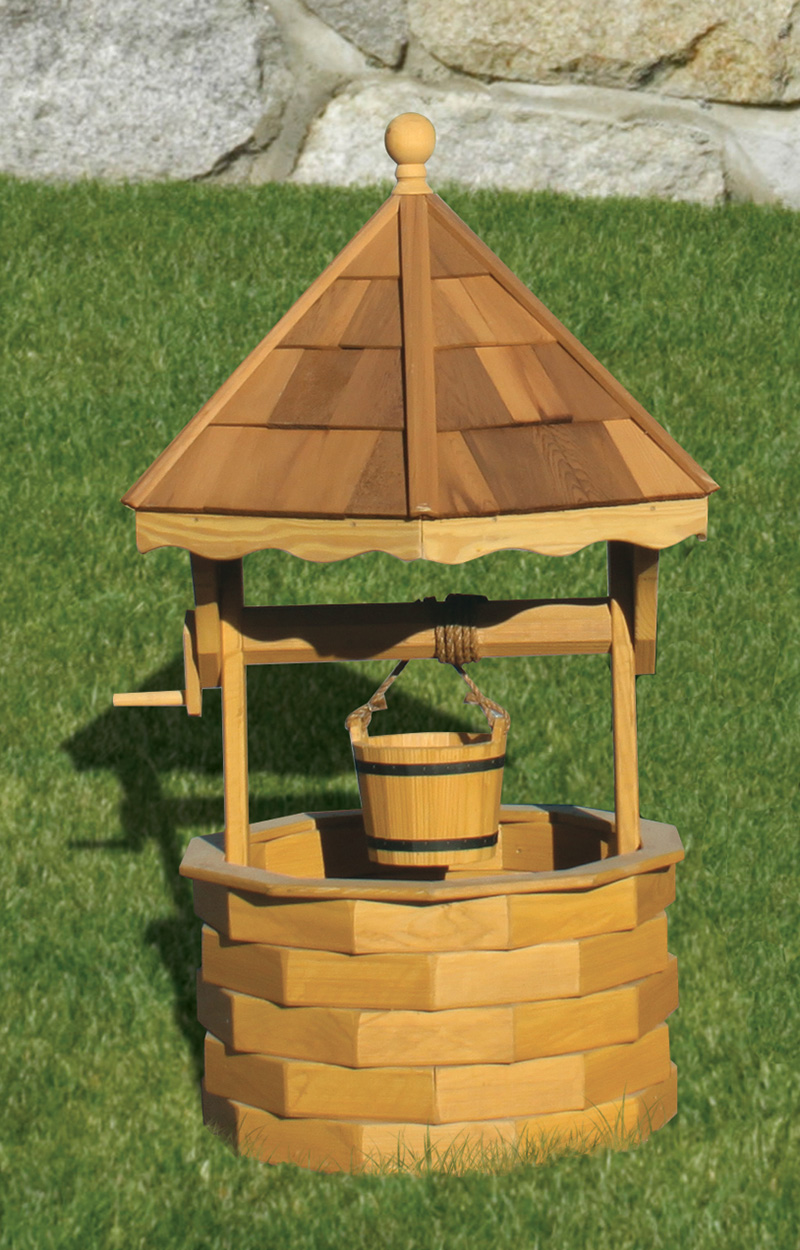 Wooden Wishing Wells Beautiful Garden Decoration Penn Dutch