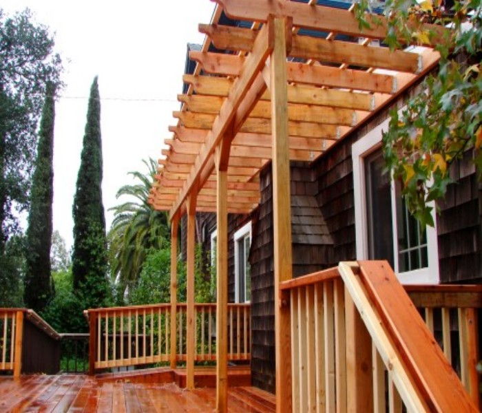 Trellis Over A Deck The Best Option Pergola Gazebos