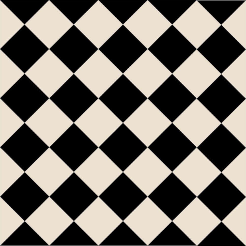 Checkers Bar Stools Black White
