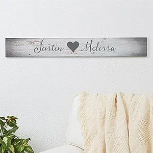Personalized Couples Romantic Wood Signs Me And You