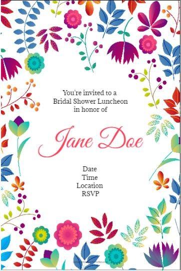 Printed Bridal Shower Invitations