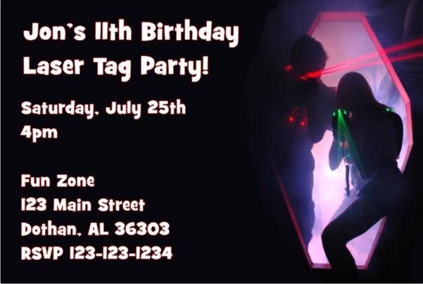 Laser Cut Baby Shower Invitations