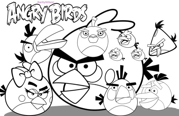 coloring pages angry birds # 7
