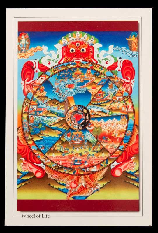 Carte Postale Roue De La Vie Wheel Life Nepal Tibet Deite