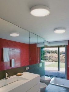 Bathroom Lights Semi recessed ceiling light  IP65
