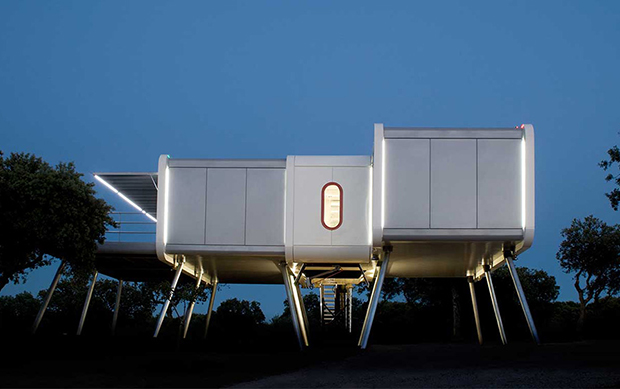 A Space Age Home With Aircraft Stairs Architecture