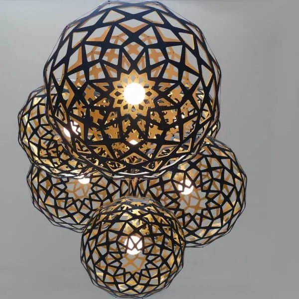 Contemporary Laser Cut Lighting Fixtures Phases Africa