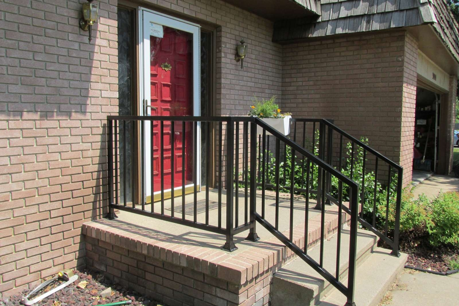 Railings Products Pleasantview Home Improvement | Wrought Iron Handrail For Steps | Aluminum | Simple | Front Door Step | Forged Iron | Custom