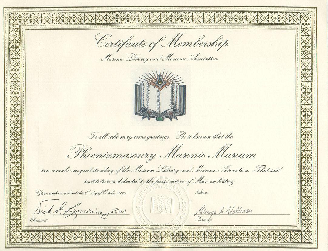 Knights Templar Certificate Template