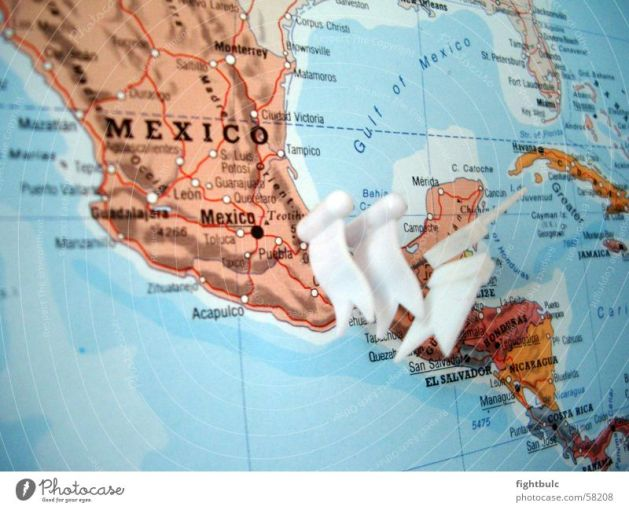 Ocean Earth Map Mexico   a Royalty Free Stock Photo from Photocase