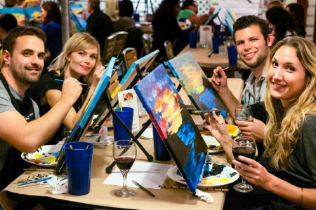 Inspirational Groupon Painting with A Twist