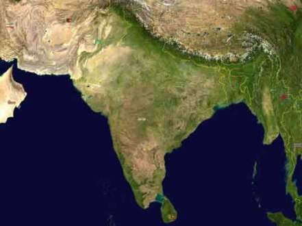 South Asia Physical Maps South Asia Physical Map