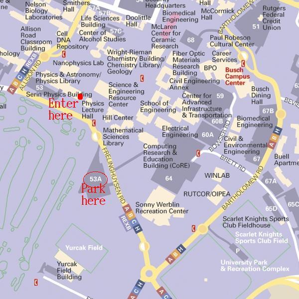 Rutgers Map University Campus Busch