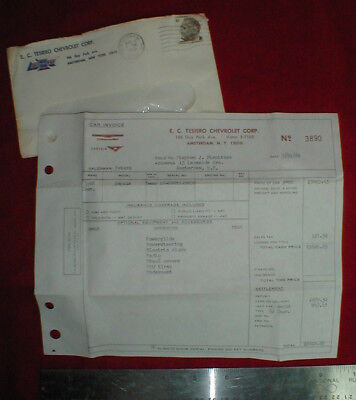 1968 CHEVROLET IMPALA   New Car Invoice   Amsterdam  NY Dealer E  C      1968 Chevrolet Impala   New Car Invoice   Amsterdam  NY Dealer E  C  Tesiero