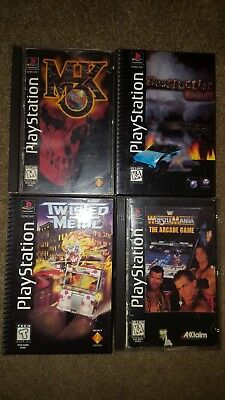 LONG BOX PLAYSTATION 1 games  PS1 games pick one RARE Complete w     Long Box Playstation 1 games  PS1 games pick one RARE Complete w  manuals
