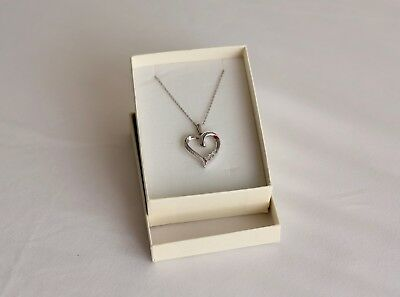 NEW  KAY JEWELRY Diamond Necklace   Earrings Jared Zales Heart     New Kay Jewelers Silver Diamond Heart Necklace  Similar to Zales