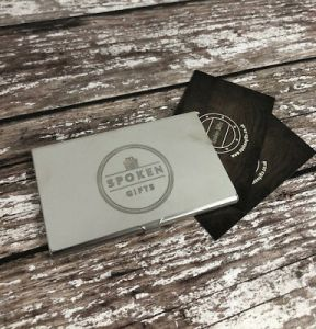 PERSONALISED BUSINESS CARD Holders Gifts For Men Him Dad Logo     Personalised Business Card Holders Gifts For Men Him Dad Logo Company  Engraved