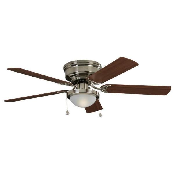 HARBOR BREEZE ARMITAGE 52 in Brushed Nickel Indoor Flush Mount     Harbor Breeze Armitage 52 in Brushed Nickel Indoor Flush Mount Ceiling Fan  Light 1 of 4FREE Shipping See More