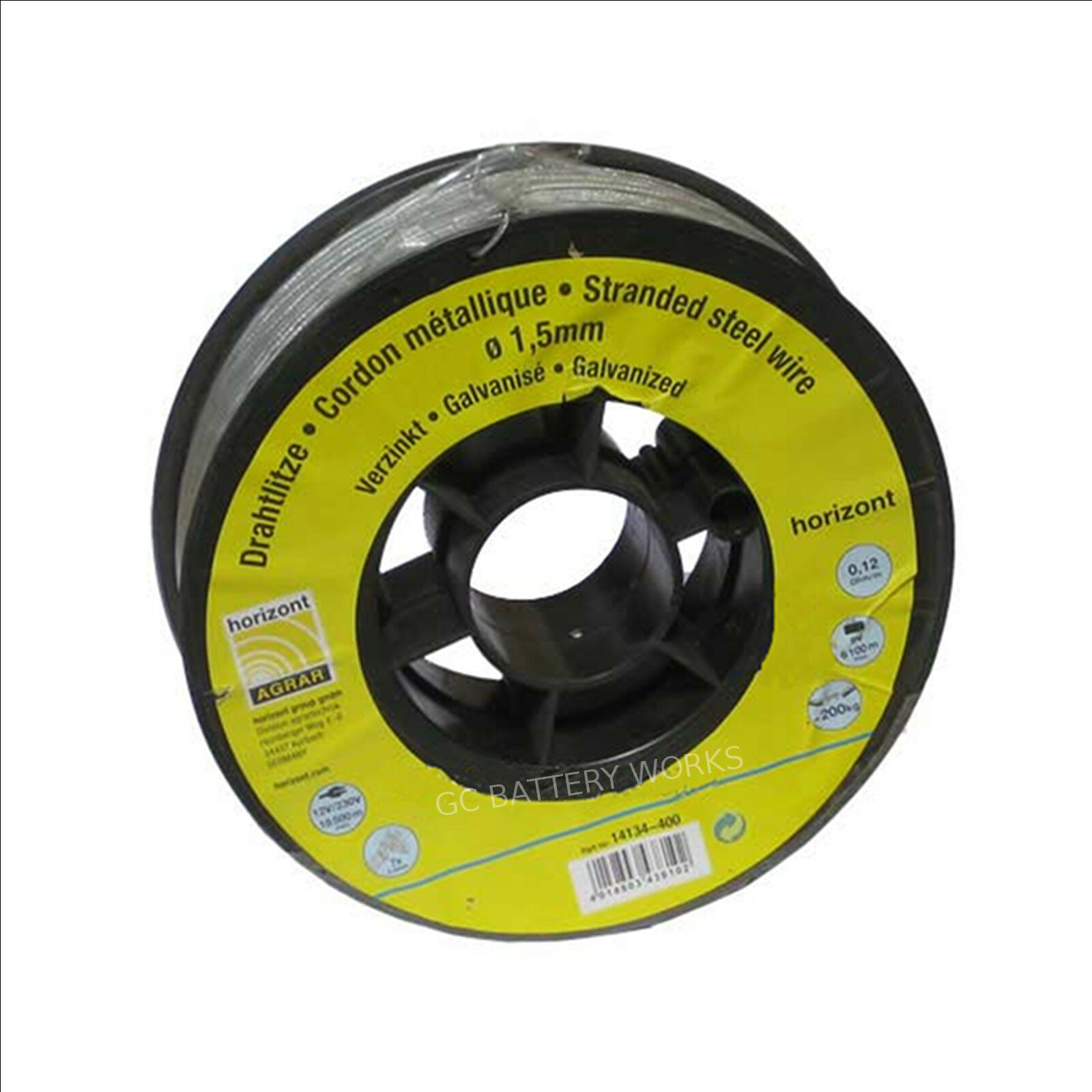 Wire Electric Fence Reel Longlife Waratah