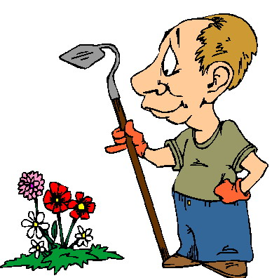 people gardening clip art - 388×396