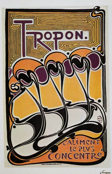 Vintage poster for Tropon food concentrate  1899   VINTAGE POSTER Canvas Canvas print