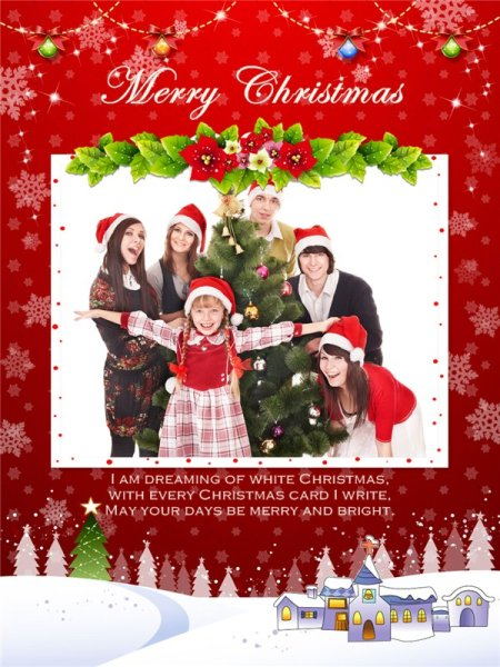 Christmas Collage Card Add On Templates Download Free
