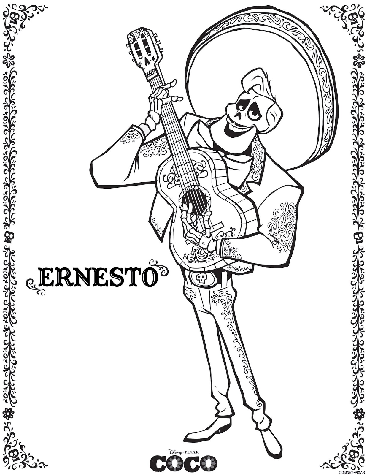 Coco Coloring Pages March 2018 Edition Miguel Coloring Pages