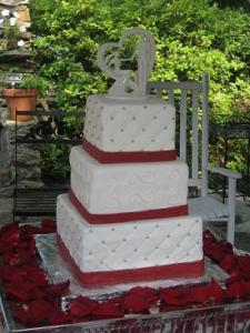 Design Wedding Cakes and Toppers  Hearts and Roses Bridal   Wedding     square wedding cakes image