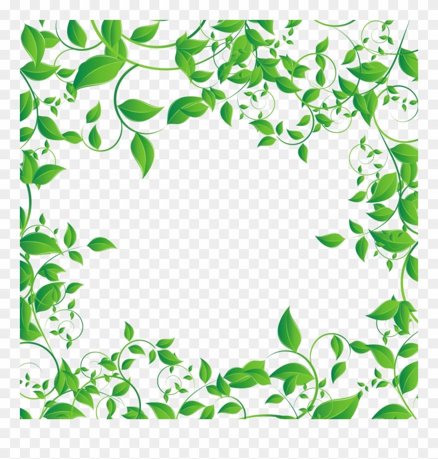 Mq Green Leaf Leaves Frame Frames Border Borders - Leaf ...