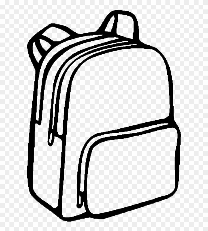 Svg Library Download Collection Of Free Backpack Drawing ...