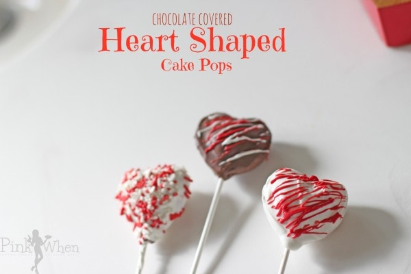 Chocolate Covered Heart Shaped Cake Pops Pinkwhen