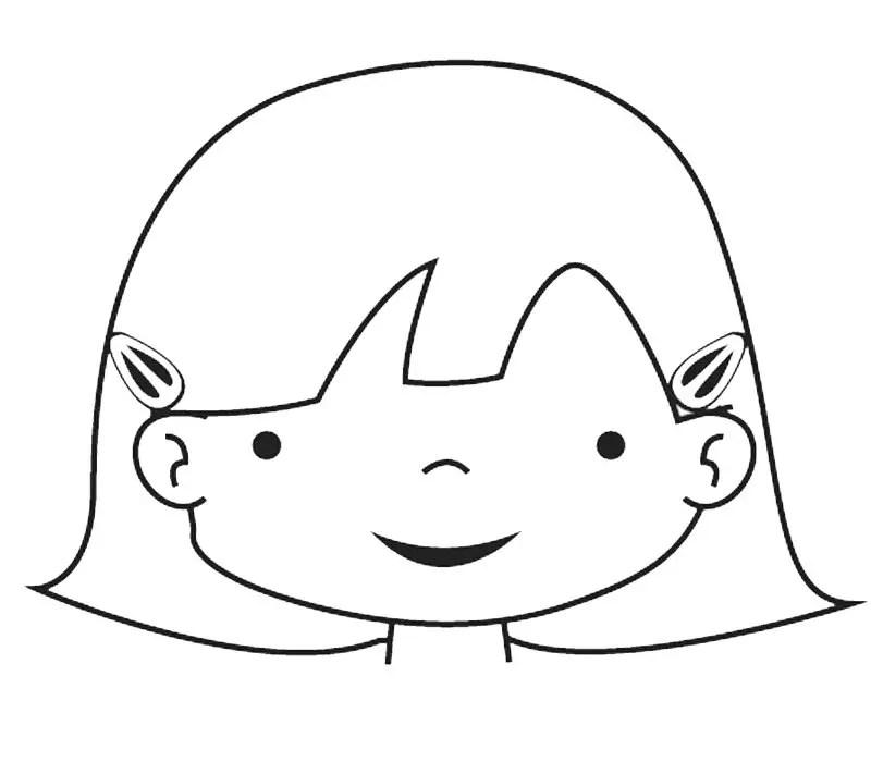 Silueta Nino La Dibujos De De Nina Del Y Cuerpo