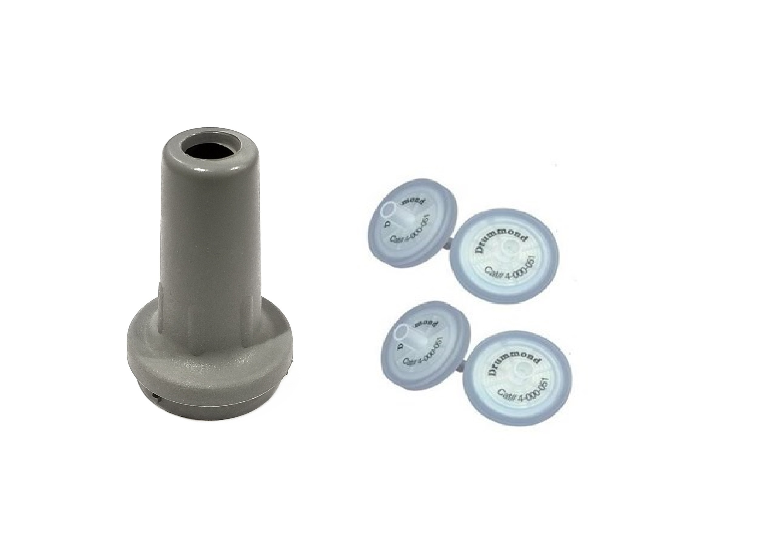 Drummond EZ Grip TC Gray Nosepiece Kit with 4 Filters (Drummond)