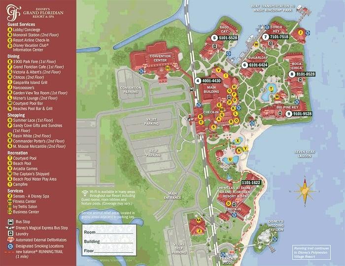 Level Disney Map Beach Club Club Resort