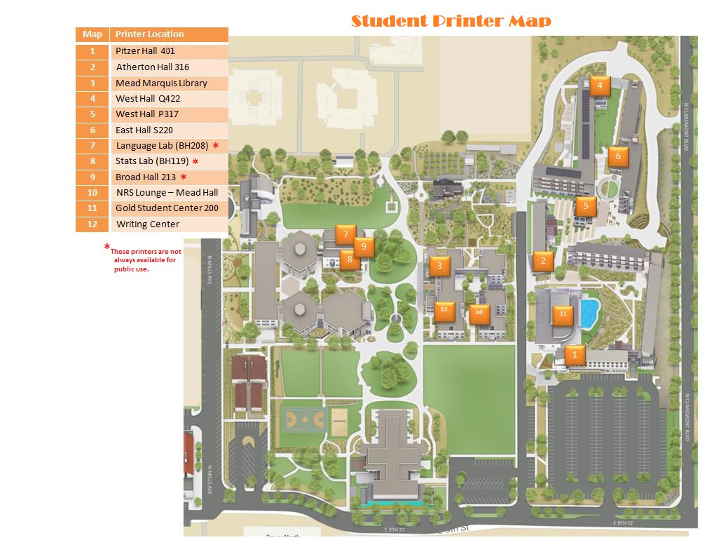 Scripps College Campus Map