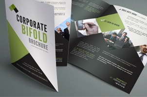 Premium and Free Brochure Templates   Pixeden Corporate Bi Fold Brochure Template