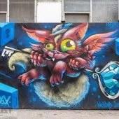 Crazy Cat, Graffiti im Kunstpark München, No. 4