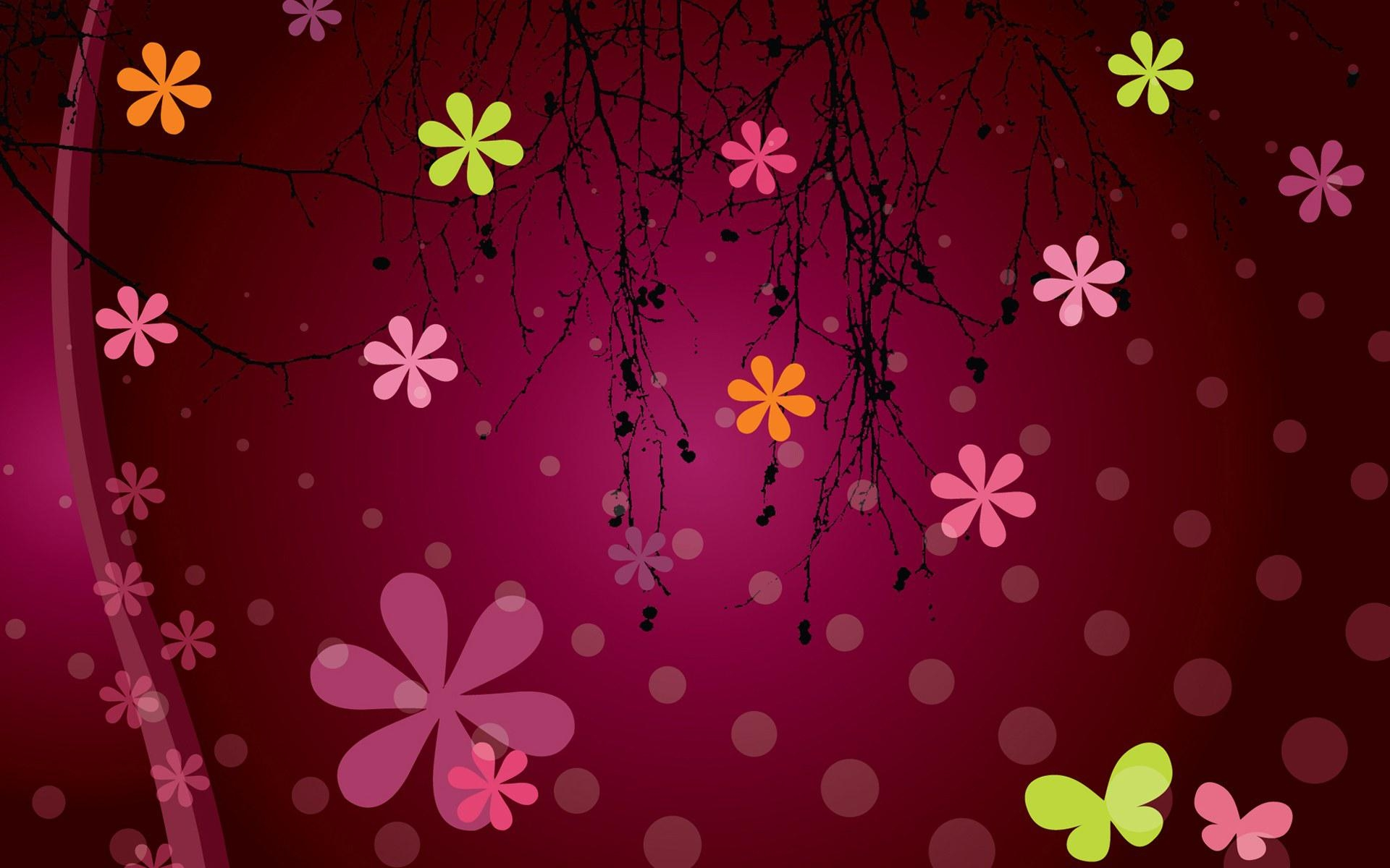 Girly Backgrounds Dektop Wallpapers free download   PixelsTalk Net Vector flower patterns girly background