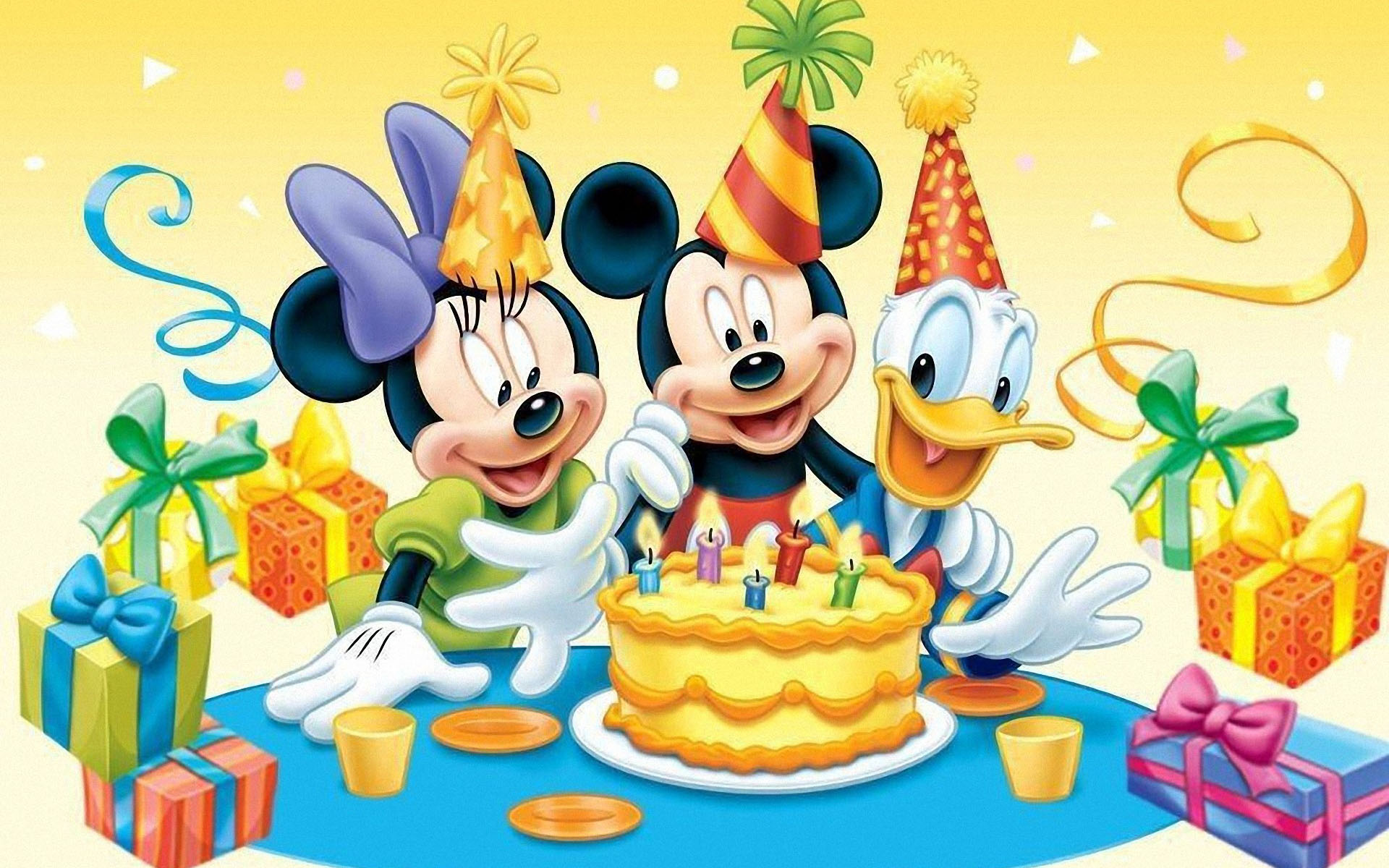 Wallpaper Mouse Birthday Happy Mickey