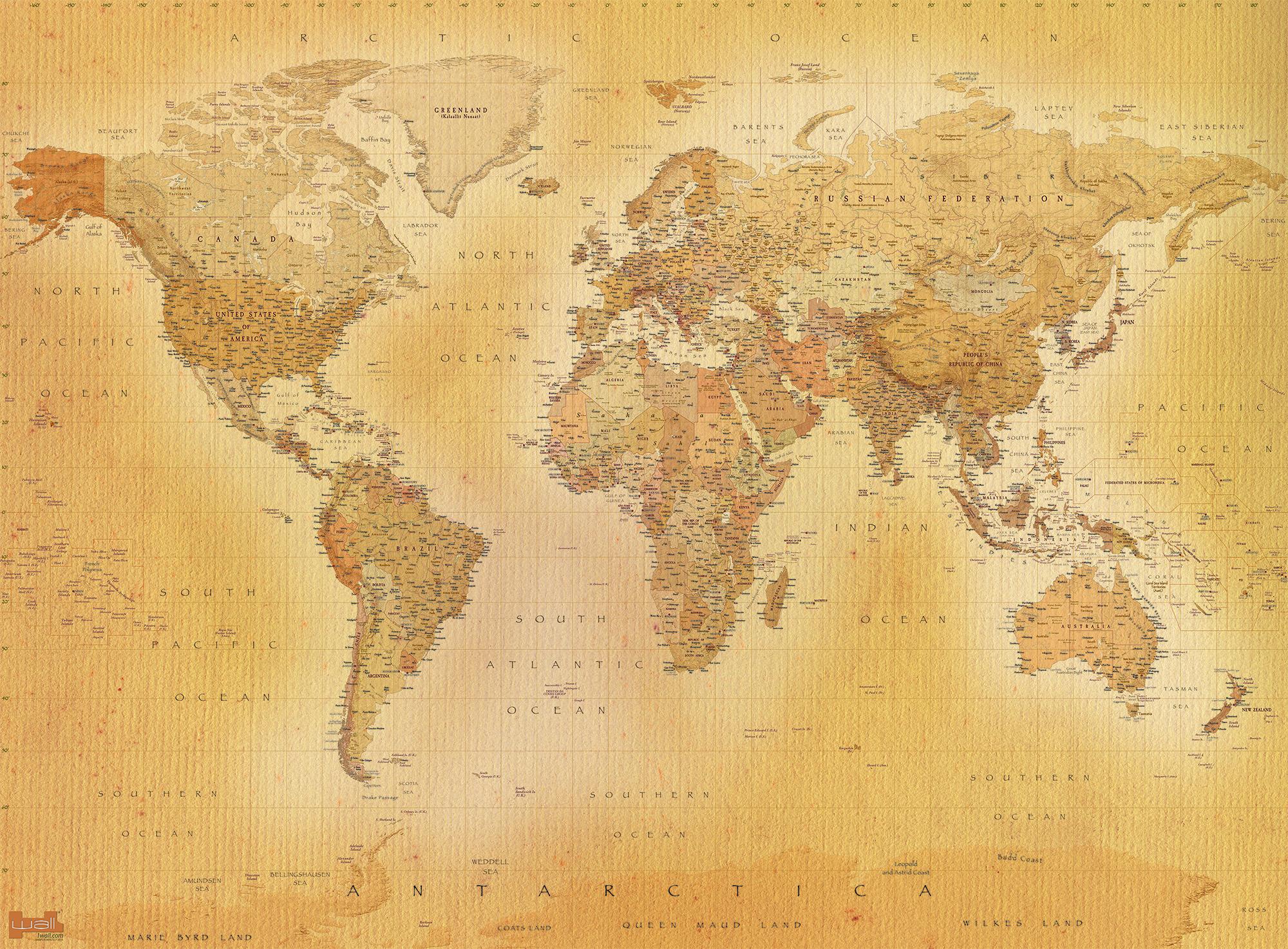 Wallpaper Typographic World Map Advertisement world
