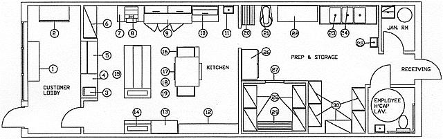 Pizza Store Floor Plans