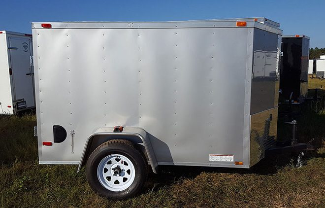 Diamond Cargo V Nose Single Axle 5x8 Trailers For Sale
