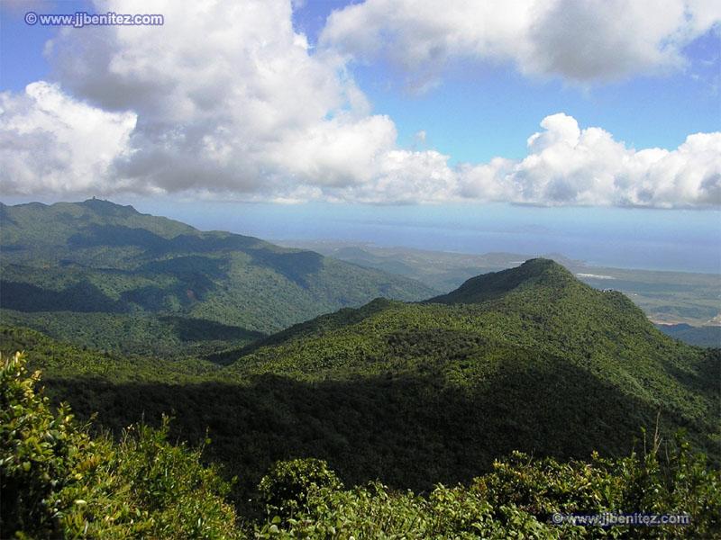 El Nacional Yunque Central Cordillera La El Map Rico Parque Puerto