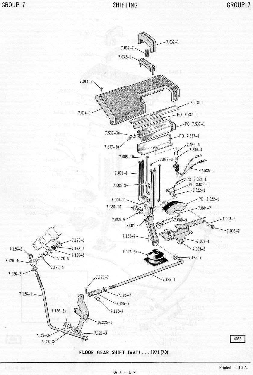 Amc 71 automatic console floor mount shifter borg warner m11 m 12