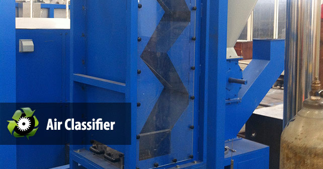 Air Classifier Plastic Recycling Machine High Quality