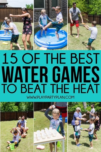 The Ultimate List of Water Games for Kids and Adults   Play Party Plan Whether you re looking for outdoor water games for kids or easy games for  summer