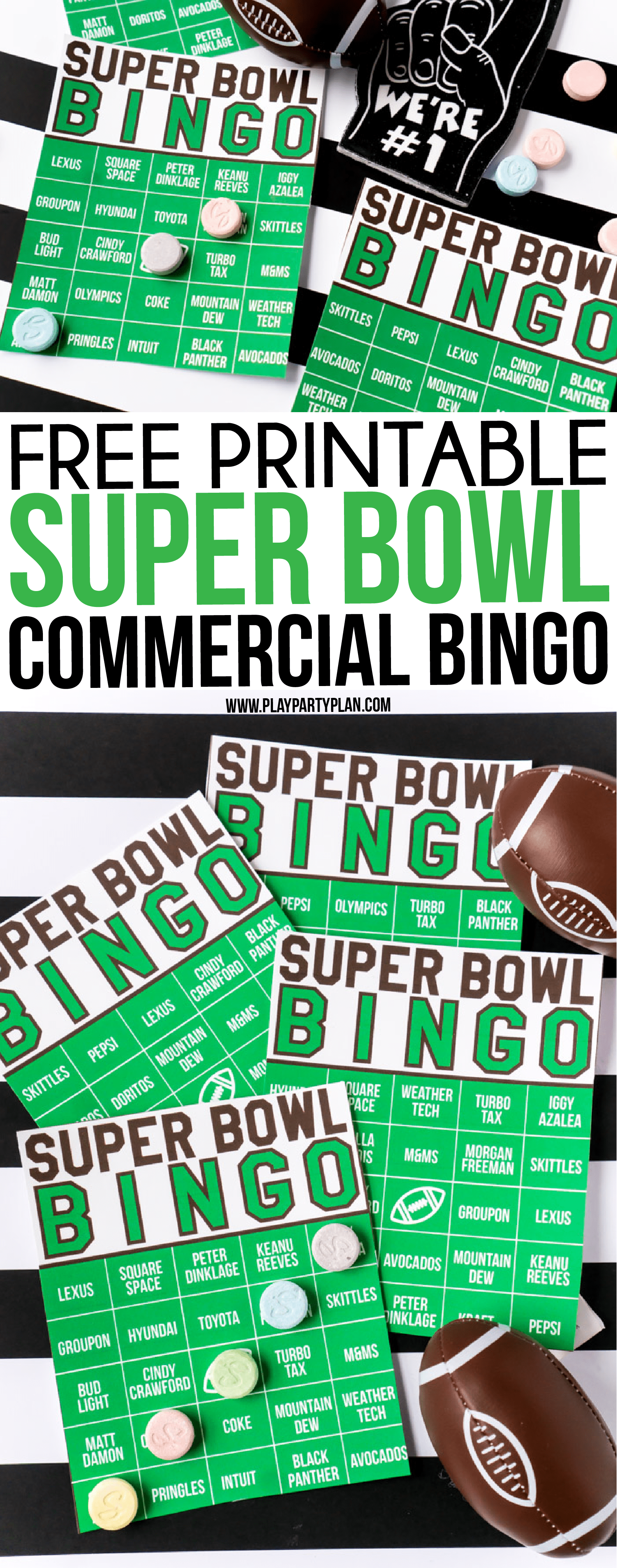The Best Super Bowl Bingo Game   Super Bowl Commercial Bingo These Super Bowl commercial bingo cards are one of the best Super Bowl  party games ever